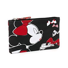 Minnie Mouse Floral Zip-Up Fabric Pouch