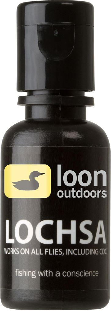 Loon Lochsa Floatant will keep any fly afloat!  Loon hit it on the head making the Lochsa Floatant. It will keep any fly floating even in the rough current. Put it on your caddis flies, may fly patterns, even patterns with CDC, this floatant is the best stuff for the job.   FAST and FREE shipping on all US orders over $25.  This stuff won��t mat even your softest feathers. It won��t get stiff in cold weather, or melt on hot days. This all-around gel treats feather, hair, yarn, and hackle…