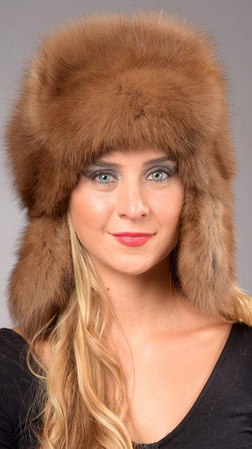 Sable fur hat is certainly among the world's most luxurious hat. Extremely soft, velvet-like and warm, ideal for cold winter days. This -Russian style- sable fur hat is available on amifur.com. Fur on both sides of the front and ear flaps. Absolutely natural color. Each of our sable fur hats is handmade in Italy.   www.amifur.com
