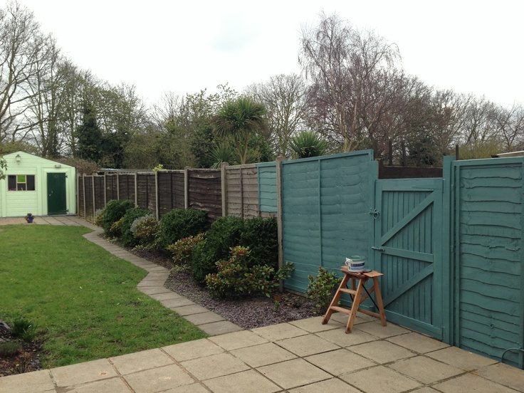 "The garden is getting a makeover too, with a transformative fence paint-job in Ronseal ""Seagrass"". Makes a massive difference!"