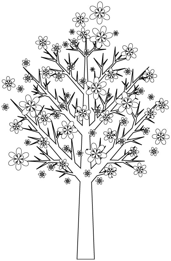 56 best images about dessin a colorier on pinterest coloring free printable coloring pages - Dessin arbre simple ...