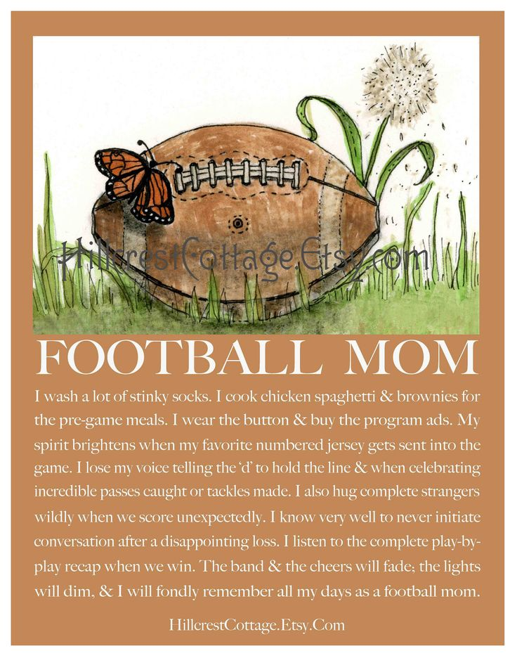 Football Mom Art Mom Football Art Football Mom by hillcrestcottage