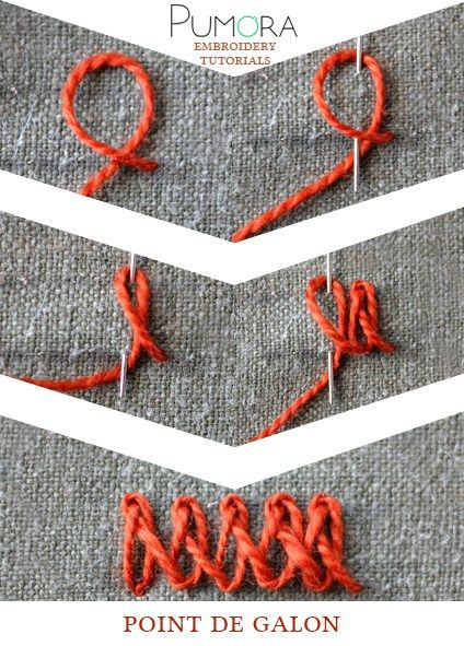 lexicon of embroidery stitches: point de galon