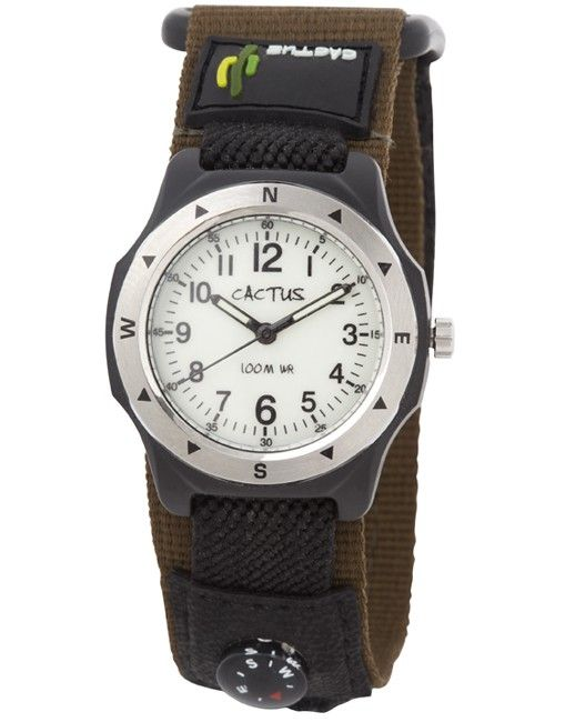 Cactus - Watch 100m Water Resistant with Compass Olive & Black (CAC-65-M12)