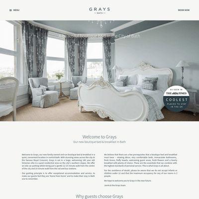 """Se hai un """"B&B Boutique"""", questo stile per il tuo sito web è praticamente perfetto: http://www.siamoalcompleto.it/grays-boutique-bb/"""
