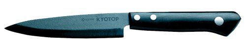 Kyocera KYOTOP Utility Knife - 4.5 Inch by Kyocera. $148.46. Ultra lightweight; rust proof. Rust proof. Excellent for metal-based knifes, scissors and other cutting tools. It is totally impervious to acids, juices, oils, salts, or other elements. Ceramic blade is unbreakable, wear-resistant, lightweight, and nonporous. From Kyocera comes this 6-in. Ceramic Sharpening Rod. 6-in. Ceramic Sharpening Rod This ceramic sharpening rod is for steel knives only. Ceramic knive...