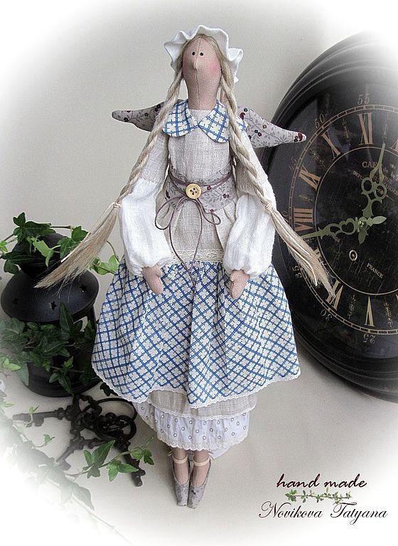 Купить Тильда ангел Очарование Прованса - синий, тильда, ангел, фея, тильда ангел