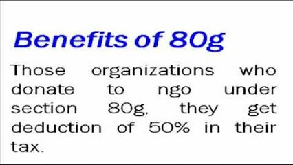 Section 80g of the Earnings Tax Act, 1961 licenses benefactors to Societies Registered U/s 80g revenues of pay task exclusion on their gift. This is one of the inspiration accommodated the individuals to give for an honorable cause. All NGO ought to try and get enlistment under section 80g. This is limited in which the NGO can express their gratitude to the providers.  http://registrationof80g1.tumblr.com/