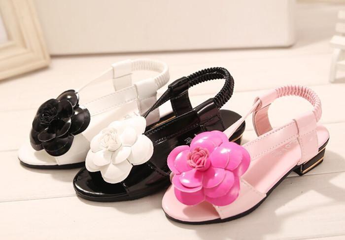 Beautiful Flowers Pu Casual Slip Bottom Barefoot Sandals. Summer Double C Type Elastic