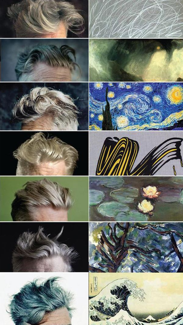 DAVID LYNCH'S HAIR & FAMOUS PAINTINGS
