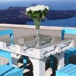 set masa si scaune de exterior din paleti de lemn reciclati