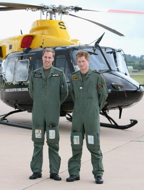 Brothers, Prince Harry (right), and Prince William, (left), sons of Prince Charles and Princess Diana. United Kingdom.