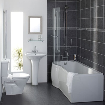 Space Saving P Shaped Shower Baths are an Amazing Approach