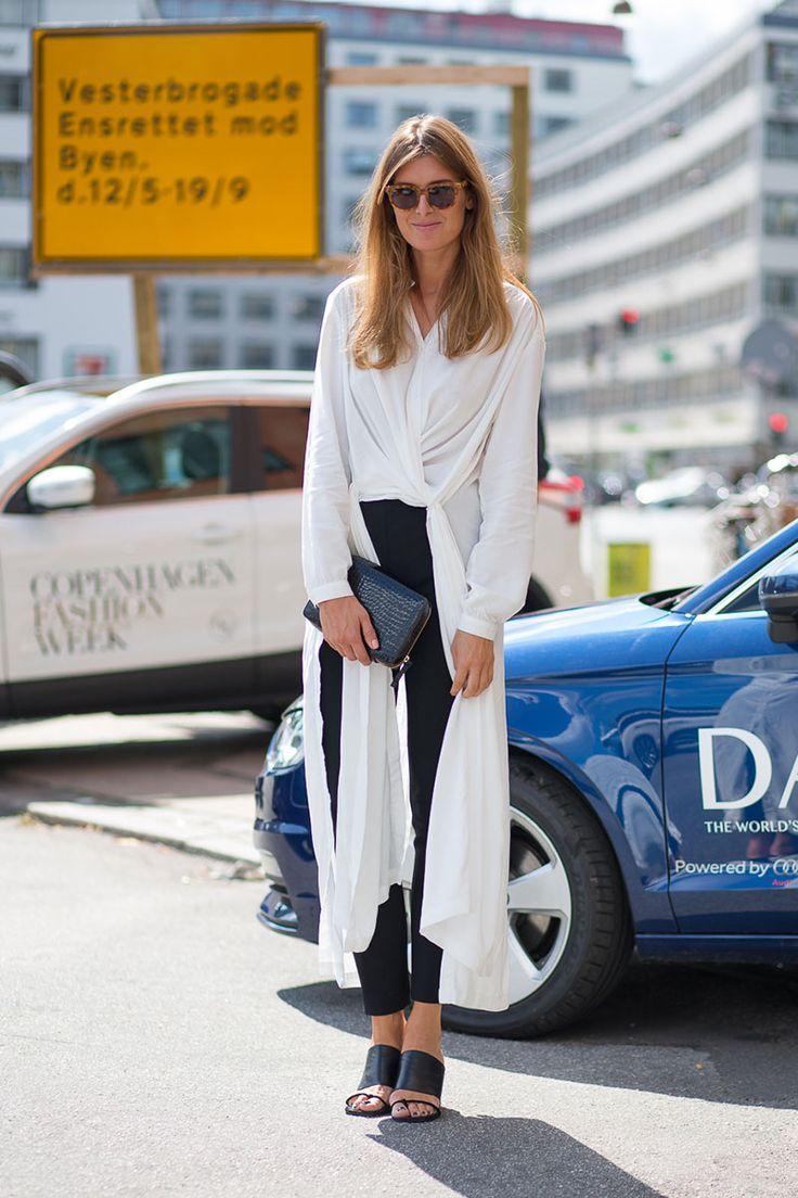 Scandinavian Standard: Copenhagen Fashion Week Spring 2015 Street Style Rodebjer shirt