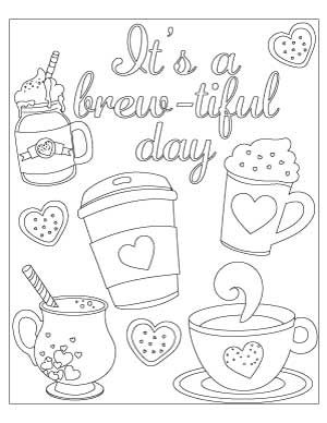 20+ Free Coffee Coloring Pages   Coloring pages, Wedding ...