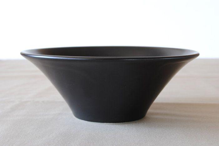 黒のラーメン丼アリス黒マット21cmボール「大」