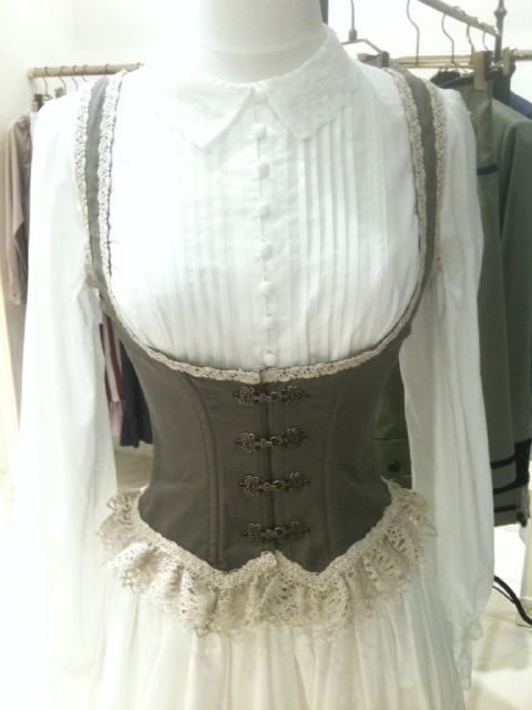 Lolita underbust corset. I really like the closures, wonder where I could find some.