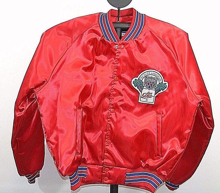 Super Bowl XXV Diet Coke Jacket Red NFL Starline L USA #Starline