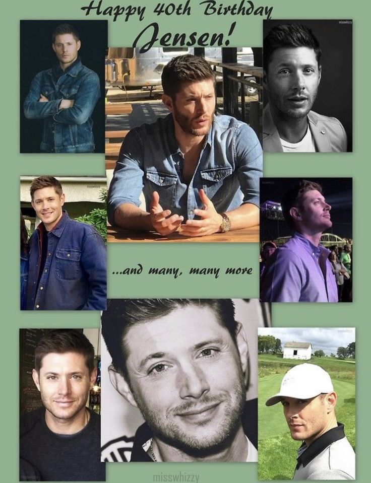 Happy 40th Birthday Jensen!