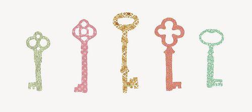 skeleton keyPretty Pattern, Prints Pattern, Vintage Keys, Art, 8X10 Prints, Keys Prints, Skeletons Keys, Kappa Gamma, Kappa Keys