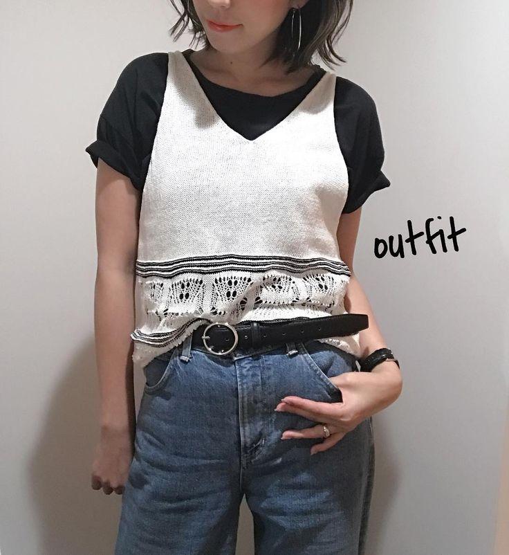 今日の服('')    ニットタンク 8900tax(30OFF) Tシャツ 4500tax(30OFF)  息子がまたまたやらかしてくれて 旦那さんから連絡が 今日はちょっと早く閉めますσ_;  今から怖い母さんに変身 待ってろ息子 コラッ!!(メロ)/ ヘ(><)ノダッシュ!!  #outfit #ootd #今日の服 #今日のコーデ #coordinate #コーディネート #fashion #ファッション#ママコーデ #ママファッション #怖い母さん#変身#いつも恐い #母さんなんてそんなもん #デニムコーデ#大人カジュアル #大人ファッション #ニットタンク #黒tシャツ #agnost #吹田市 #セレクトショップアンスリール #セレクトショップunsourire #unsourireコーデ #関大前セレクトショップ #ご来店お待ちしております