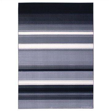 Urban Stripe Pattern Polypropylene Rug - 160x230cm