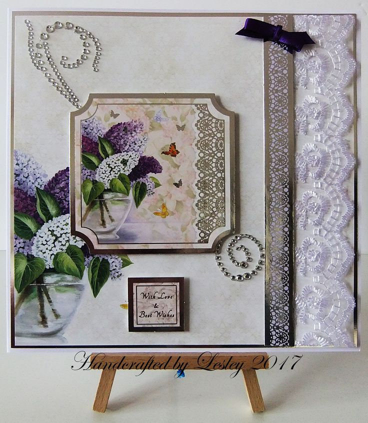 8 inch square card made using Hunkydory's Love and Lace - lace in bloom card kit. More details can be found at http://stampingbubbles.blogspot.co.uk/2017/05/love-and-lace.html