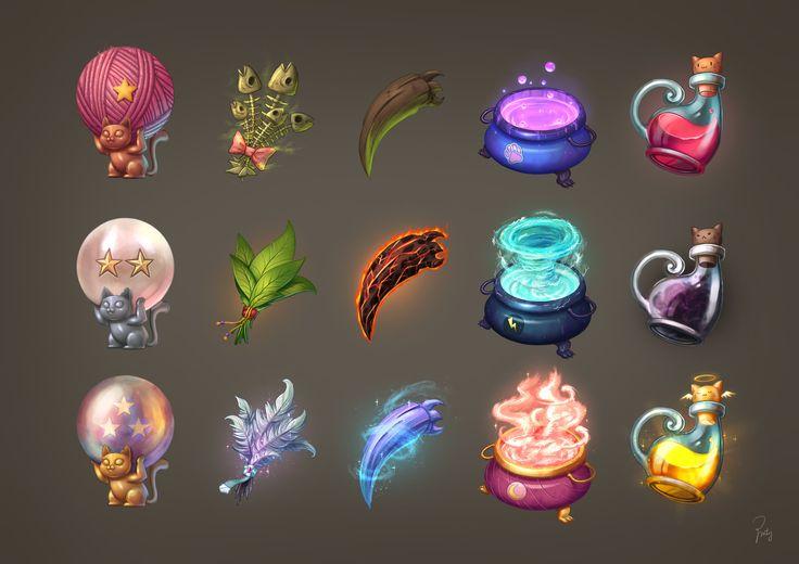 ArtStation - UI Designs, Poppy Minty