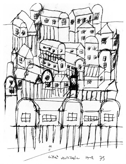 Aldo Rossi, Citta Verticale, 1975 #architecture #drawing Pinned by www.modlar.com