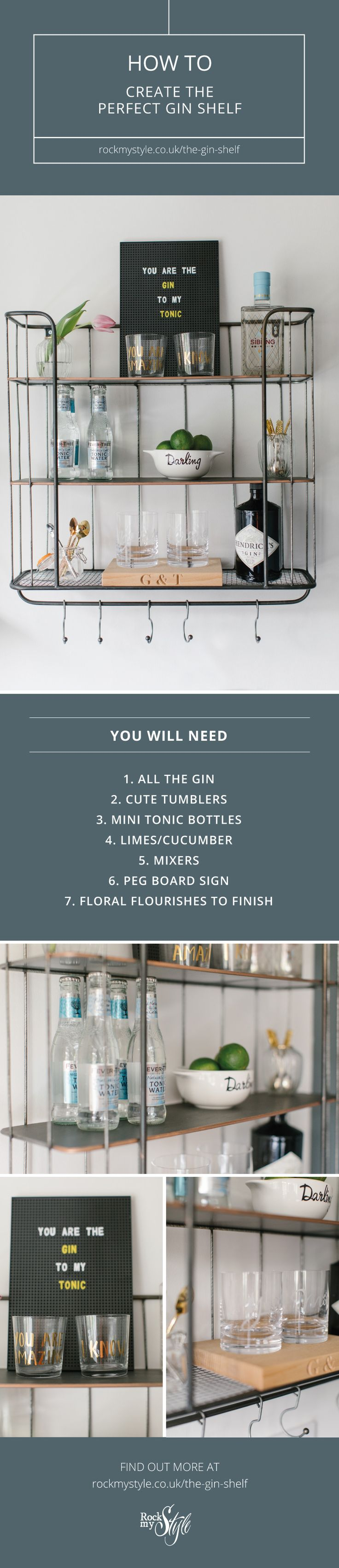How To Create The Perfect Gin Shelf Bar Cart Alternative