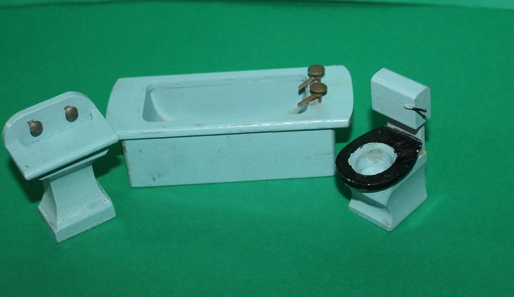 Vintage Dolls House Twigg Bathroom Suite Ref KM | eBay