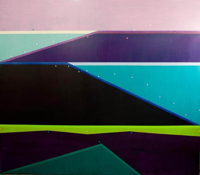 © Michael Johnson ~ Frontal Descent ~ 2010 oil on linen at Tim Olsen Gallery Sydney Australia