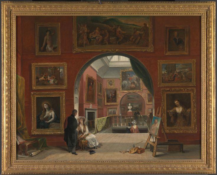Interior of the British Institution (Old Master Exhibition, Summer 1832). Alfred Joseph Woolmer. 1833.