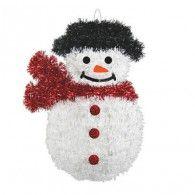 Tinsel Snowman Decoration 3D $7.95 A240585