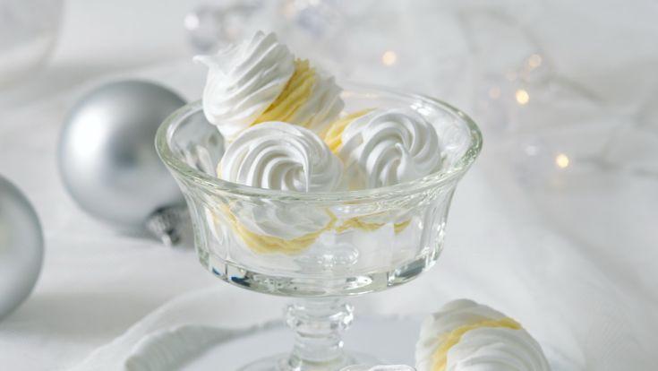 Snehové pusinky s citrónovým krémom