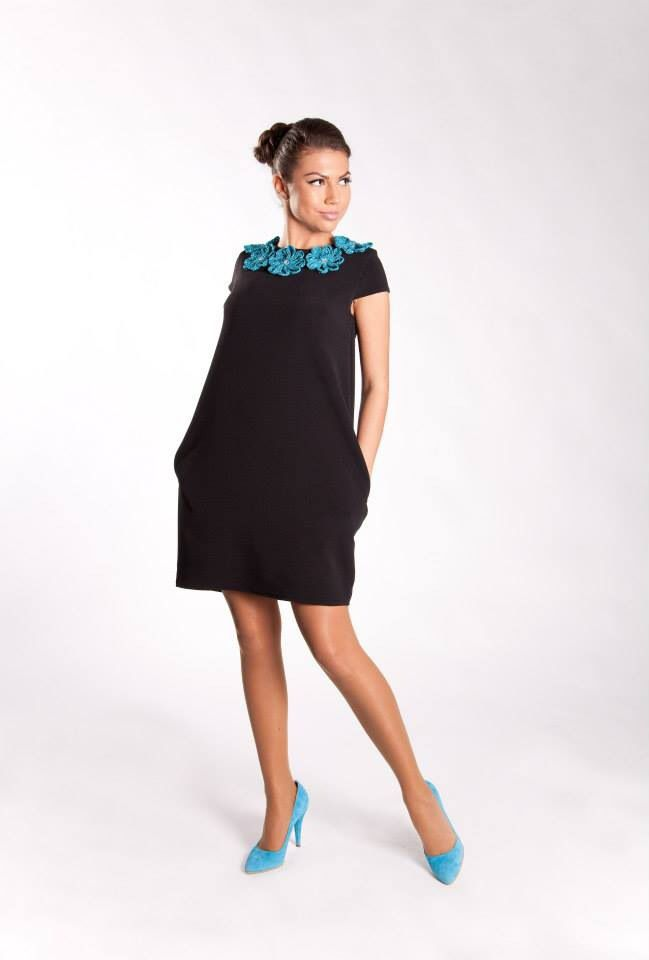 Cod: R5S14 Rochie din tricot cu elemente crosetate si cristale swarovski. Knitted dress with crochet and Swarovski elements. Model: Madalina Buftea Pantofi/Shoes: I Do shoes © Copyright - All Rights Reserved Moenra