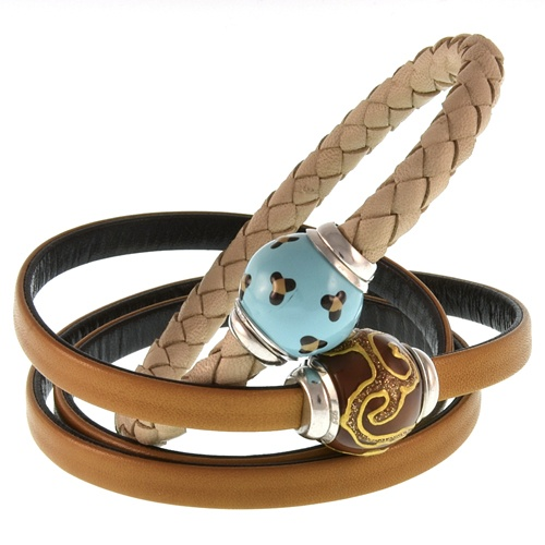 Leather and Silver Bracelets with magnetic claps