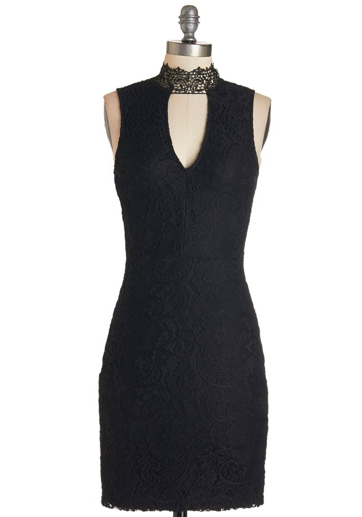 All About Drama Dress. Youve got a flair for making an entrance, and this black sheath dress really proves that! #black #modcloth