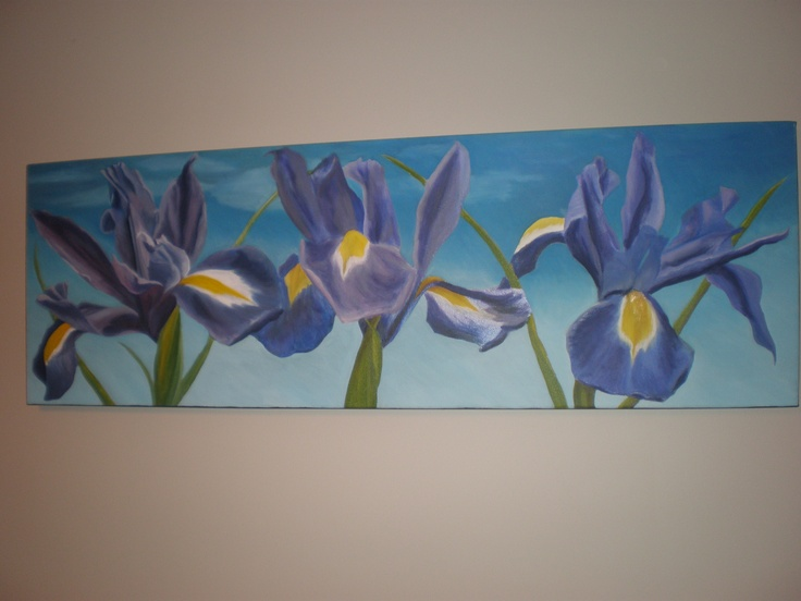 Iris (Oil painting on canvas)