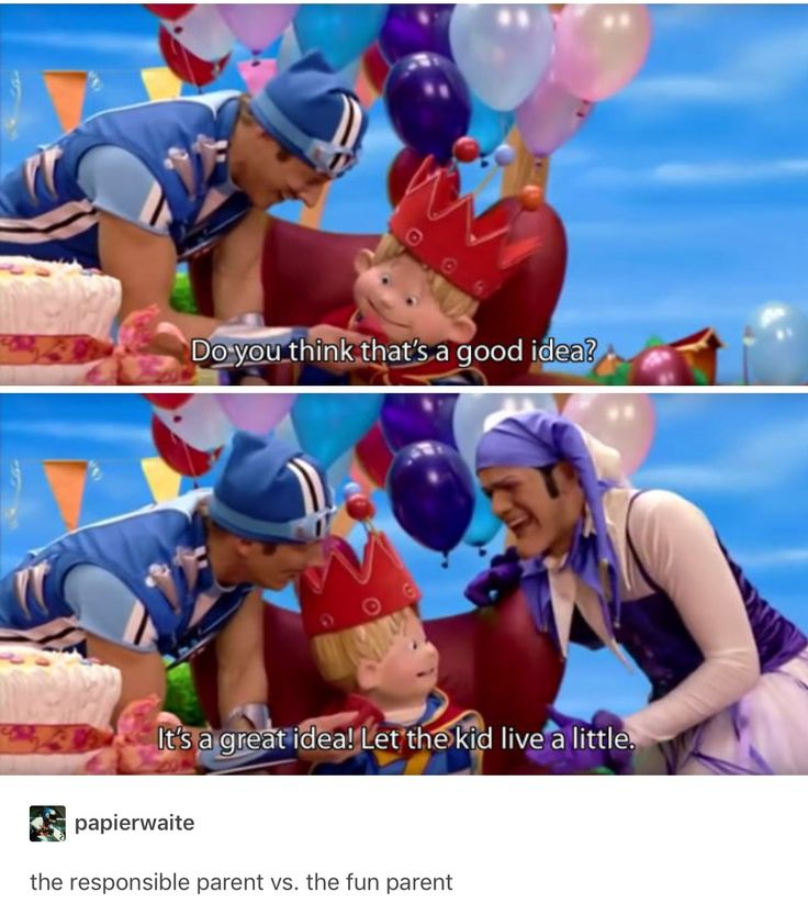 Actually, I think that Robbie is the normal parent and Sportacus is just a communist dictator.