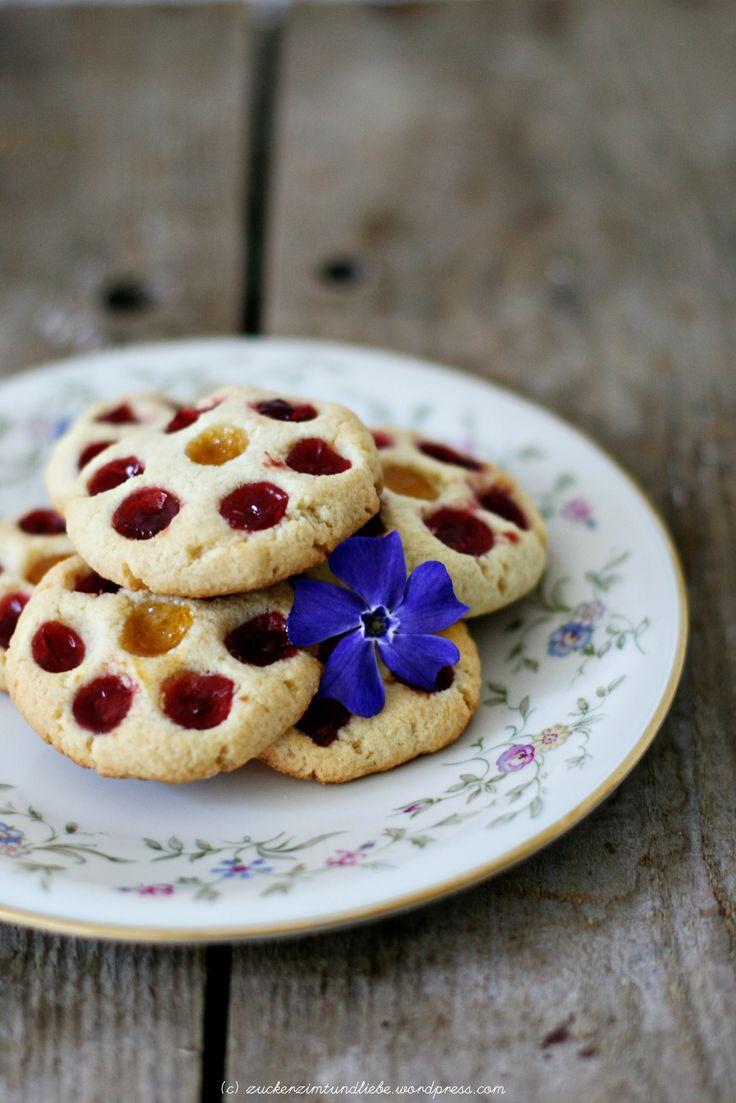 Jam drops – kleine very berry süße Marmeladenkekse