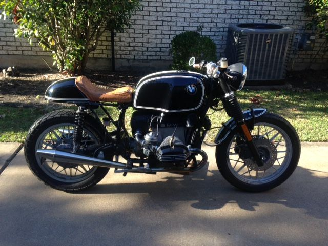 Classic Cafe Racer for sale: This is a 1981 BMW R100RS, stripped down and rebuilt into this beauty. With classic BMW inspired paint scheme that was tastefully done by Leach Custom Paint. Very good running and riding bike. Engine and Transmission built by
