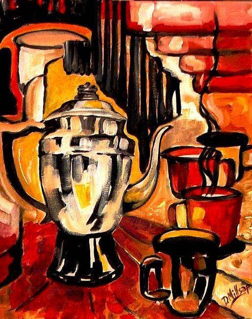 Art: Coffee Art - by Artist Diane Millsap