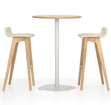 Wonderful KONTUR HIGH Solid Wood Cafe Table And MORPH BAR Stool By Formstelle For  Zeitraum Home Design Ideas