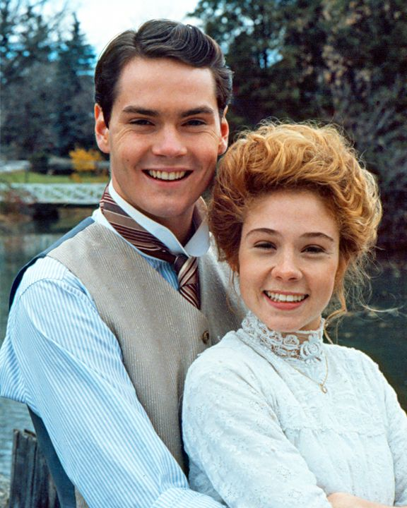 Gilbert and Anne played by Canadian actor Jonathan Crombie and Canadian actress Megan Follows.