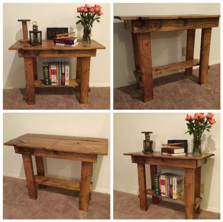 17 best ideas about pallet entry table on pinterest for Sofa table made from pallets