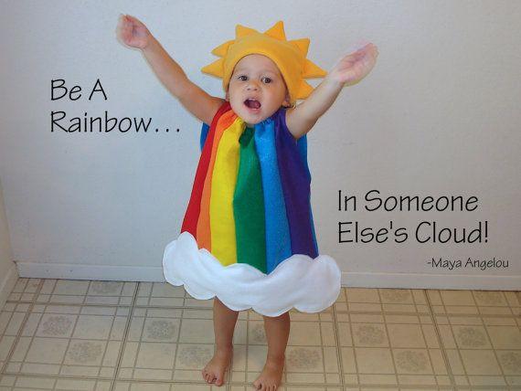 Coppia di gemelli bambini Rainbow Cloud costumi di TheCostumeCafe