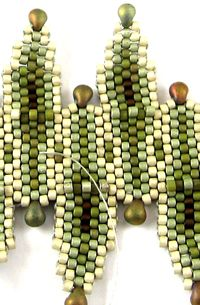 * Beads East Free Brick Stitch #Seed #Bead #Tutorials
