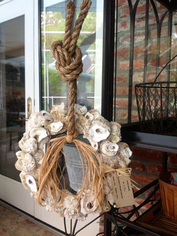 Oyster Shell Wreath by PerfectDetailsbyTina on Etsy, $55.00
