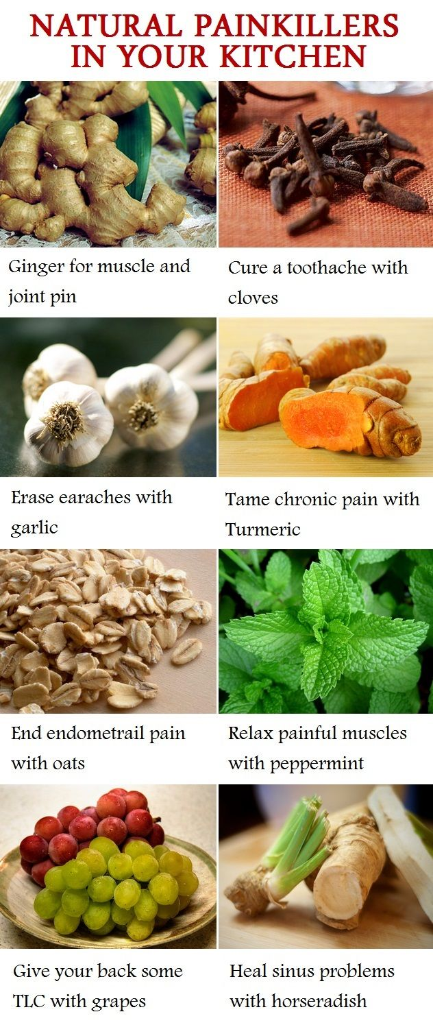 Natural painkillers in your kitchen